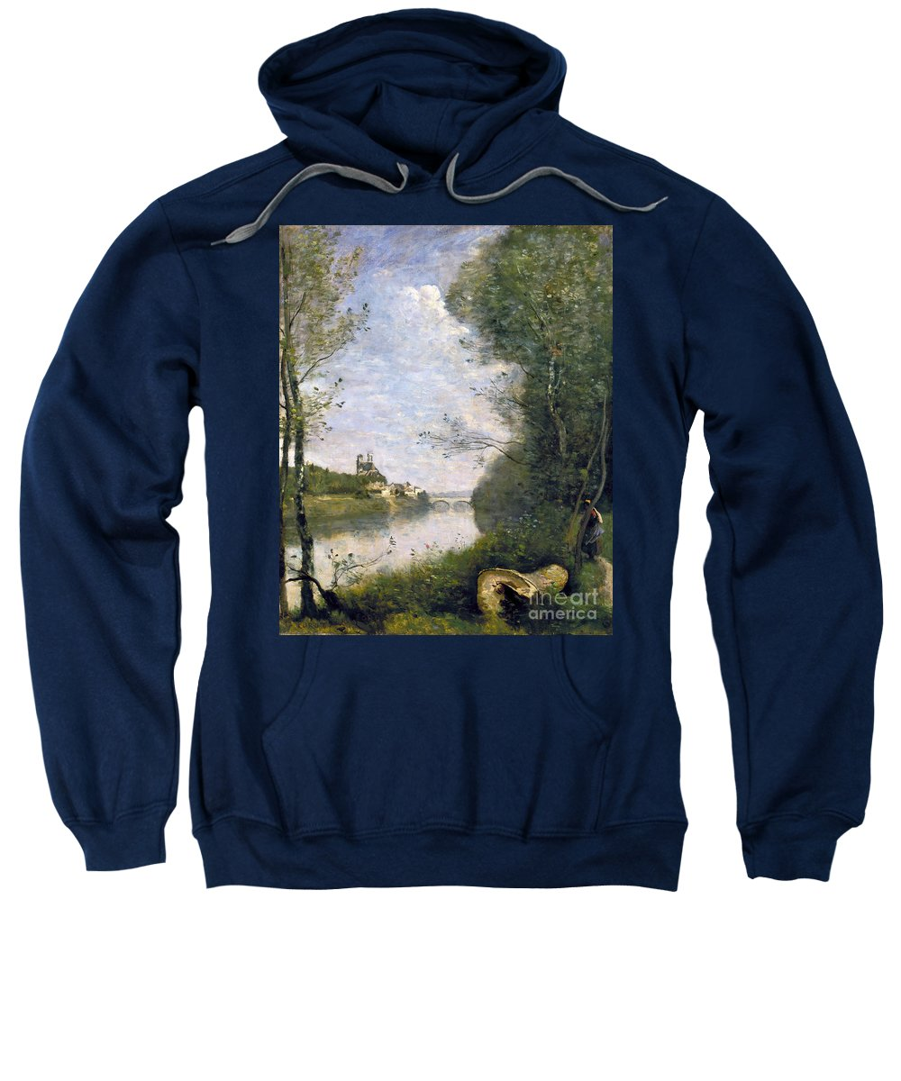 1850s Sweatshirt featuring the photograph Corot: Cathedral, C1855-60 by Granger