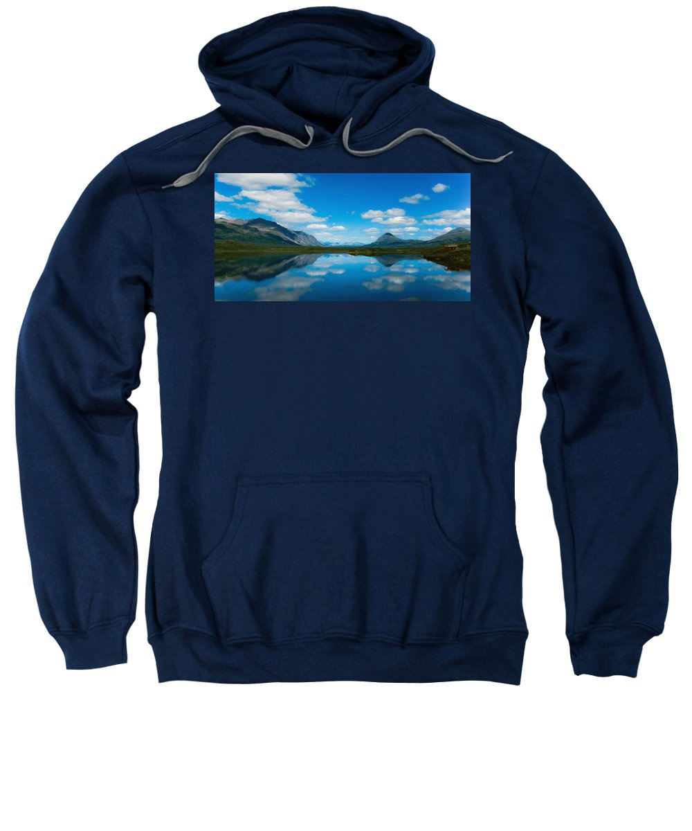 Beauty Spot Sweatshirt featuring the digital art Cottage At Lake by Max Steinwald