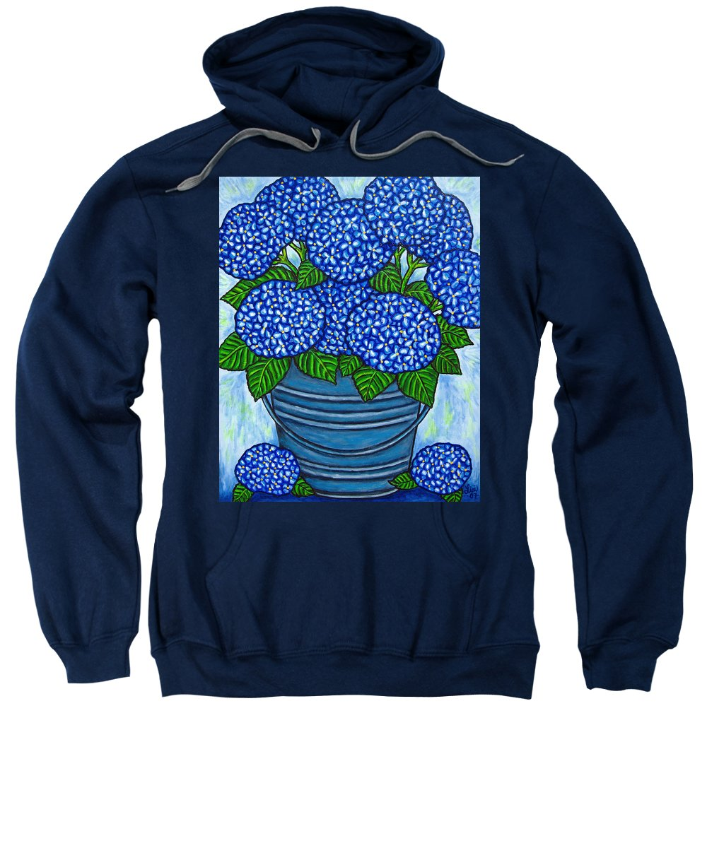 Blue Sweatshirt featuring the painting Country Blues by Lisa Lorenz