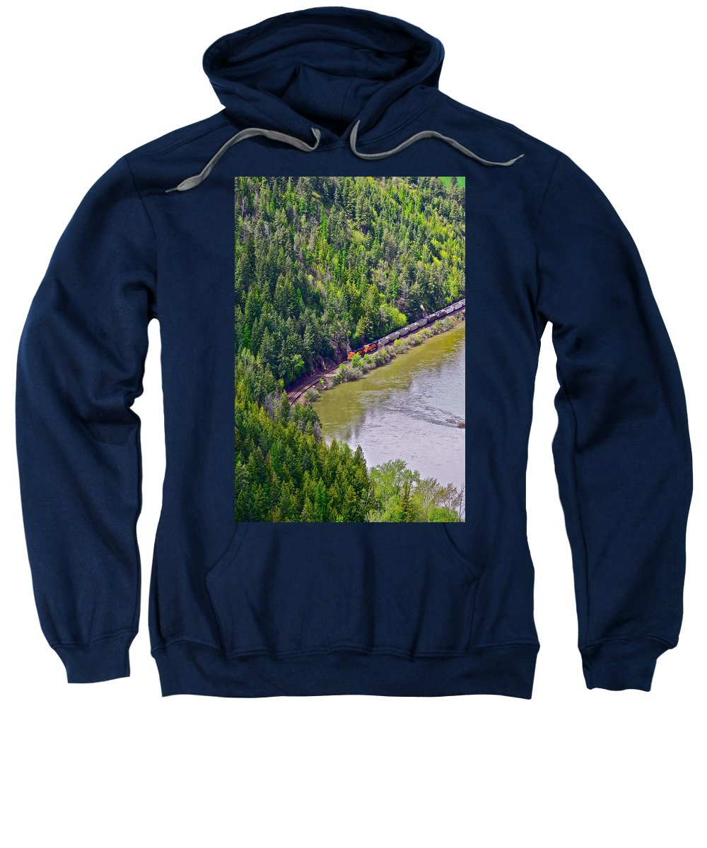 Train Sweatshirt featuring the photograph Country Train by Diana Hatcher