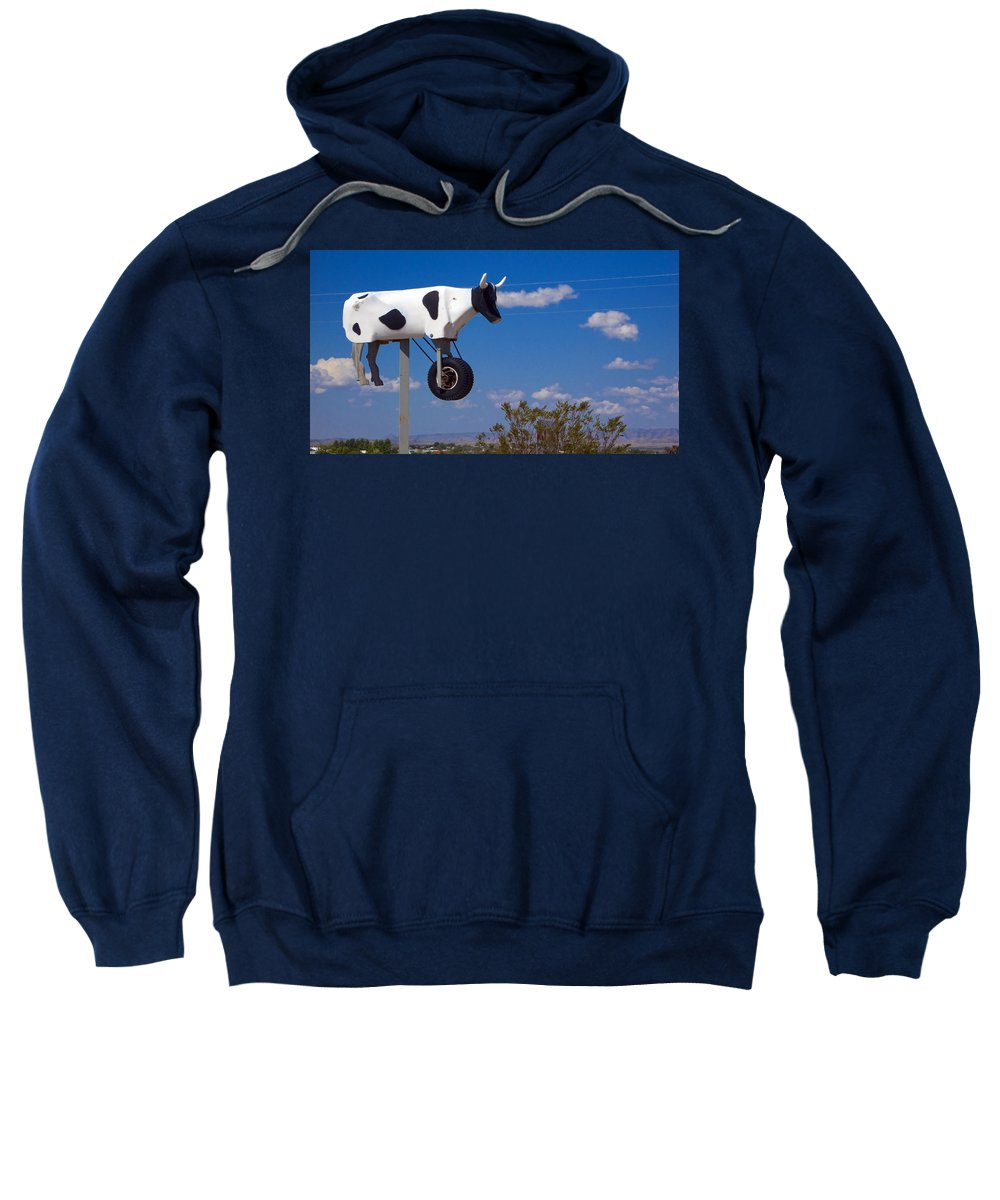 Cow Sweatshirt featuring the photograph Cow Power by Skip Hunt