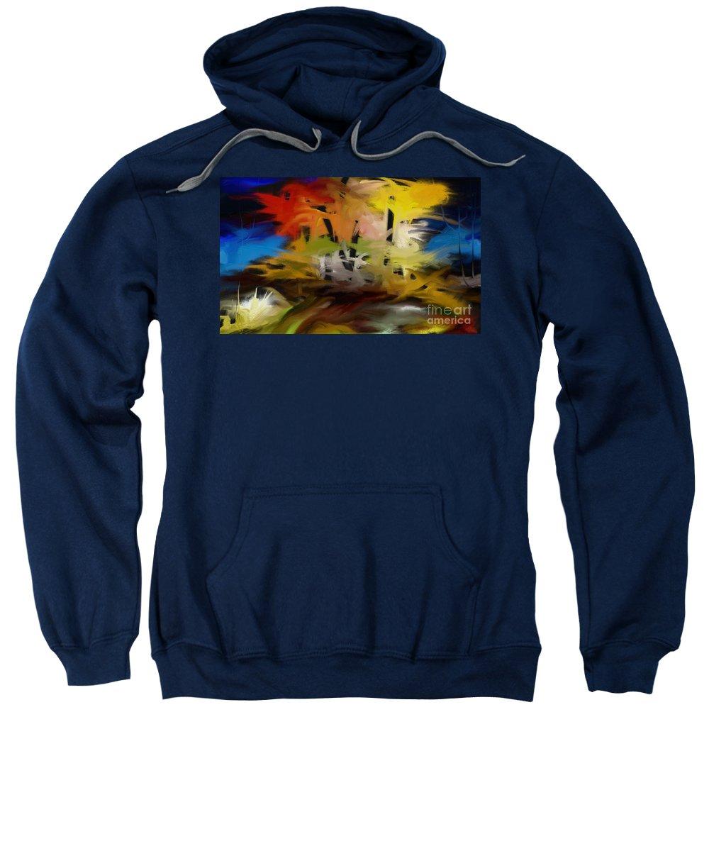 Digital Sweatshirt featuring the painting Crazy Nature by Rushan Ruzaick