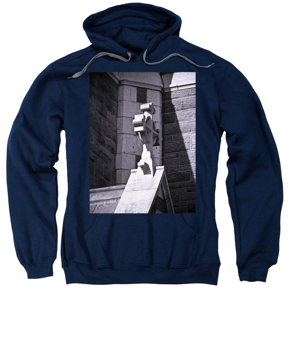 Irish Sweatshirt featuring the photograph Cross At St. Johns Tralee Ireland by Teresa Mucha