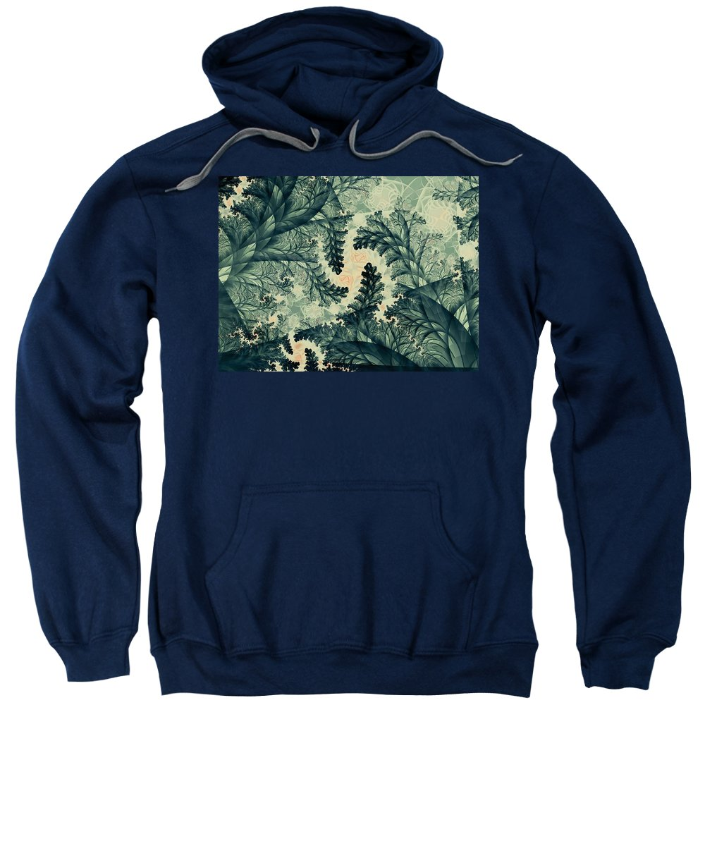 Plant Sweatshirt featuring the digital art Cubano Cubismo by Casey Kotas
