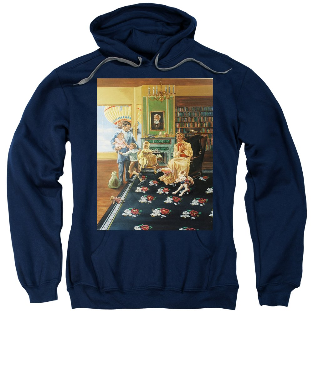 Fantasy Sweatshirt featuring the painting Daddys Home by Bryan Bustard