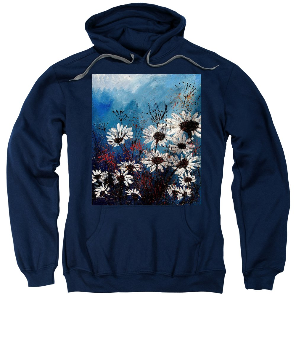 Flowers Sweatshirt featuring the painting Daisies 59060 by Pol Ledent