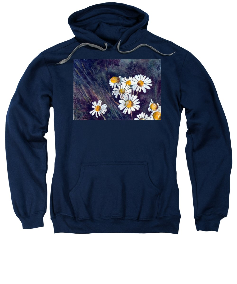 Watercolor Still Life Daisies Flowers Floral Sweatshirt featuring the painting Daisies by Brenda Owen