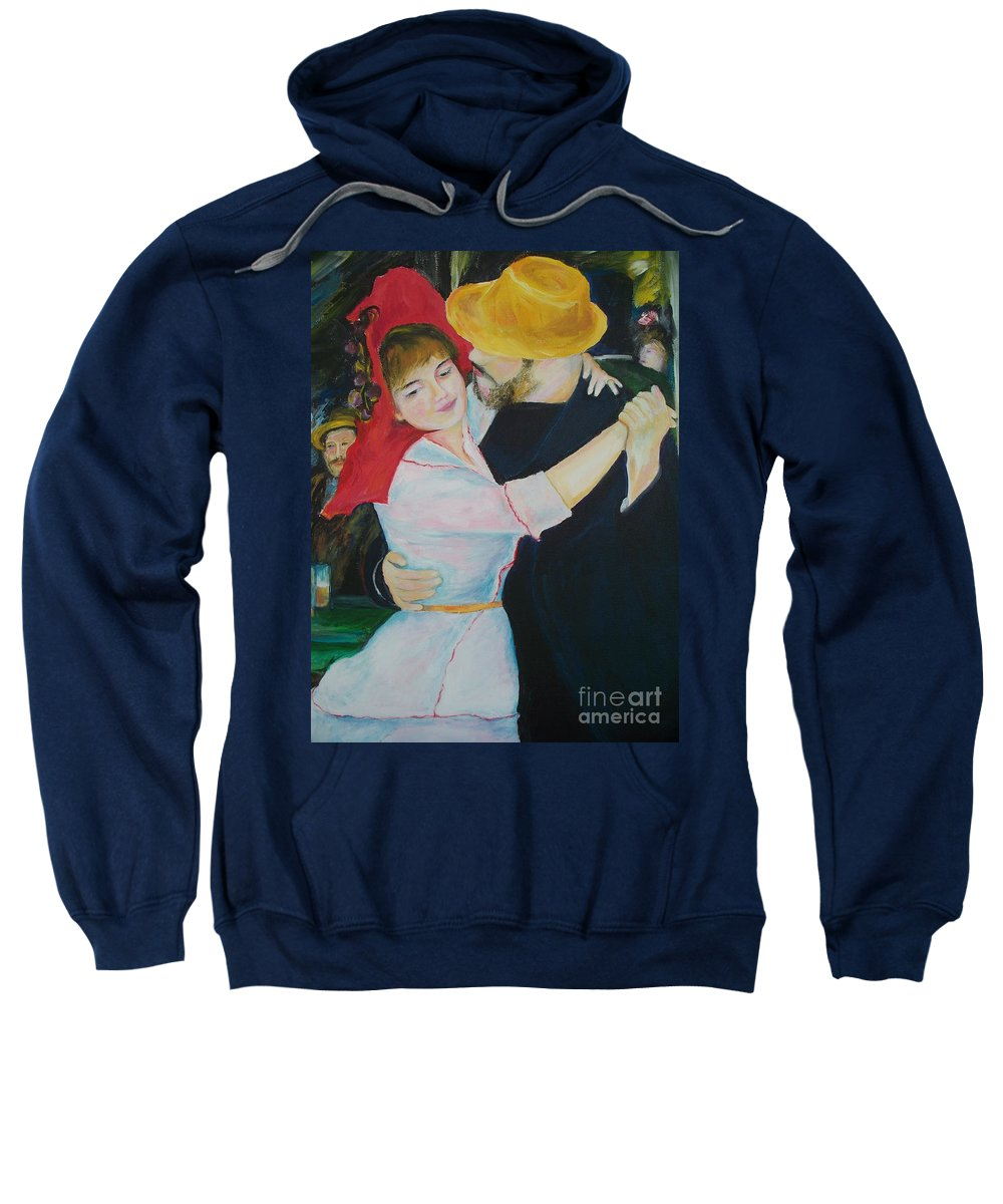 Dance Sweatshirt featuring the painting Dance by Eric Schiabor