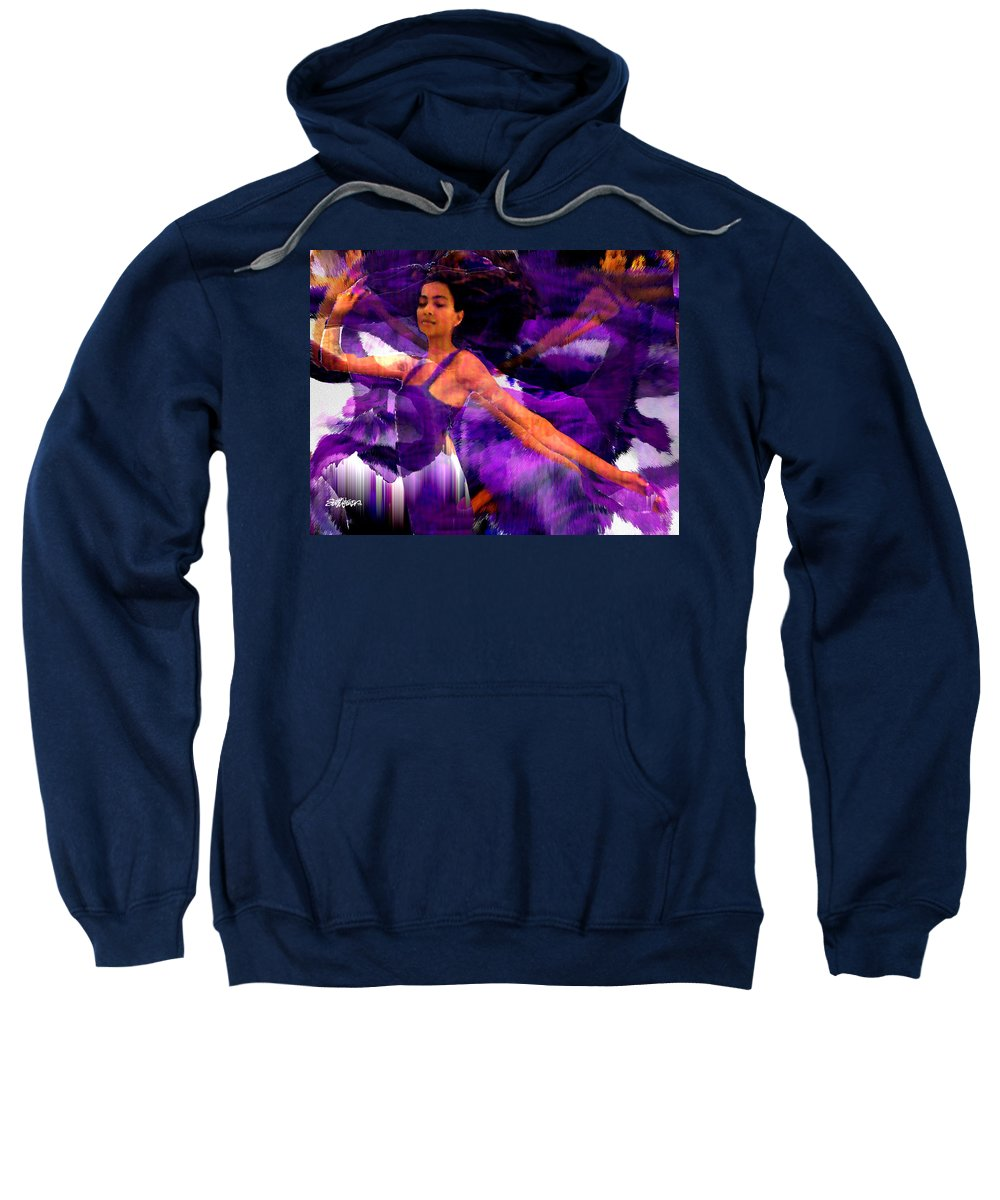 Mystical Sweatshirt featuring the digital art Dance Of The Purple Veil by Seth Weaver