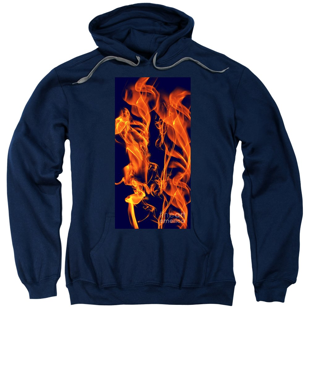 Clay Sweatshirt featuring the digital art Dancing Fire I by Clayton Bruster