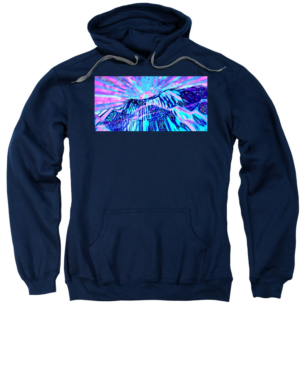 Aurora Borealis Sweatshirt featuring the digital art Dancing Sky by Seth Weaver
