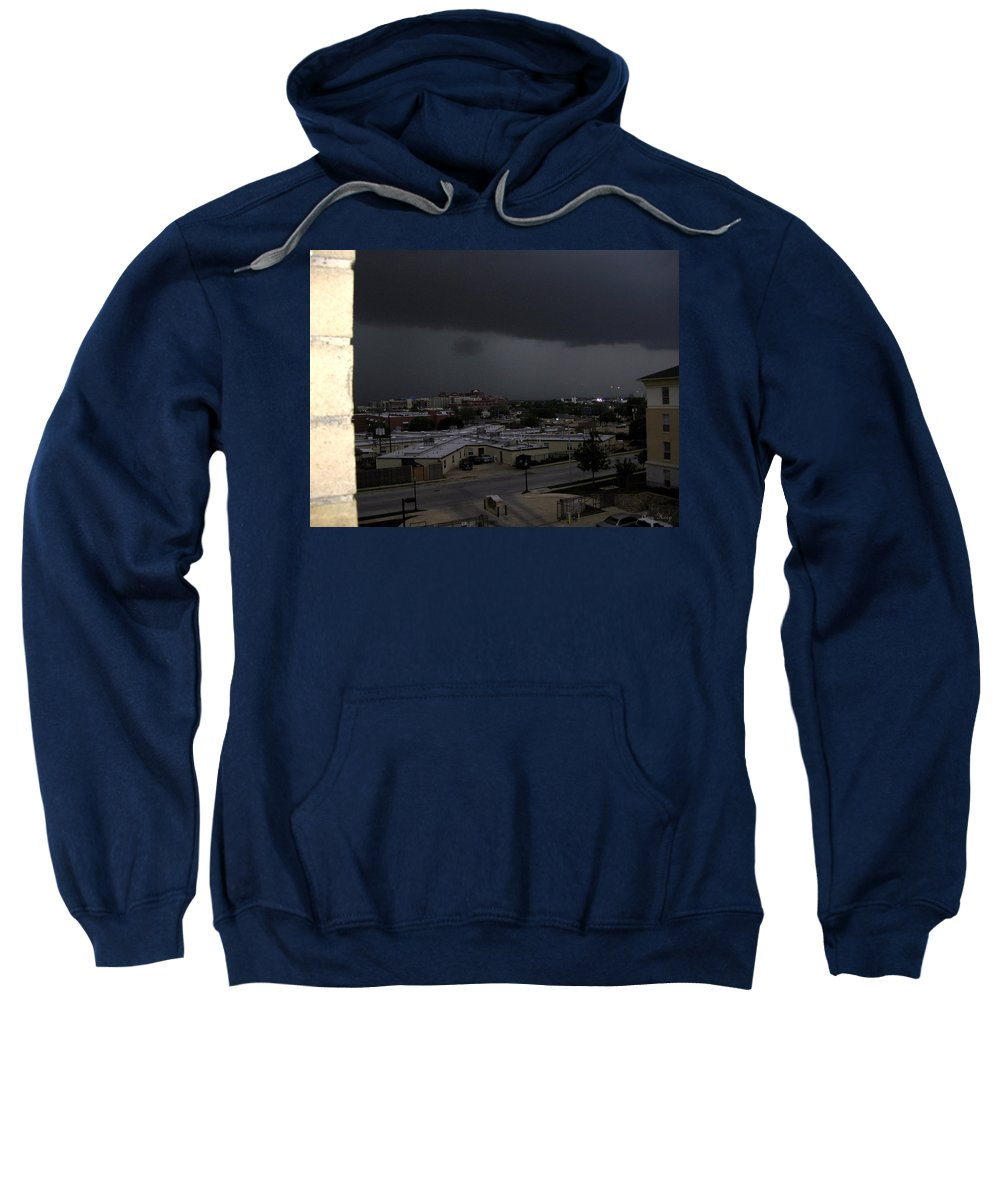 Clouds Sweatshirt featuring the photograph Dark Storm by Amy Hosp