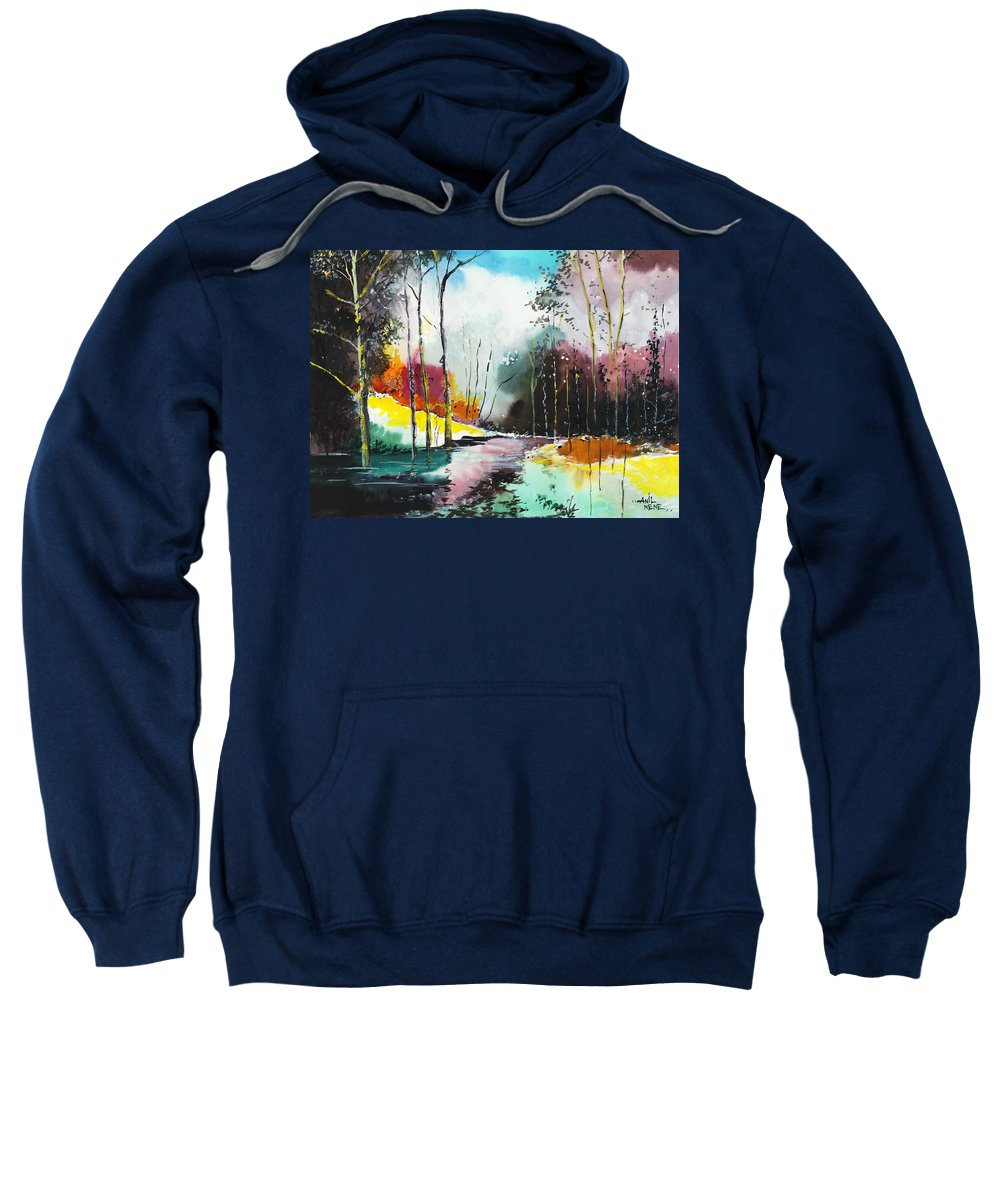 Nature Sweatshirt featuring the painting Deep 5 by Anil Nene