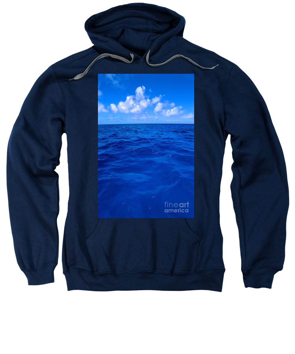 Afternoon Sweatshirt featuring the photograph Deep Blue Ocean by Greg Vaughn - Printscapes
