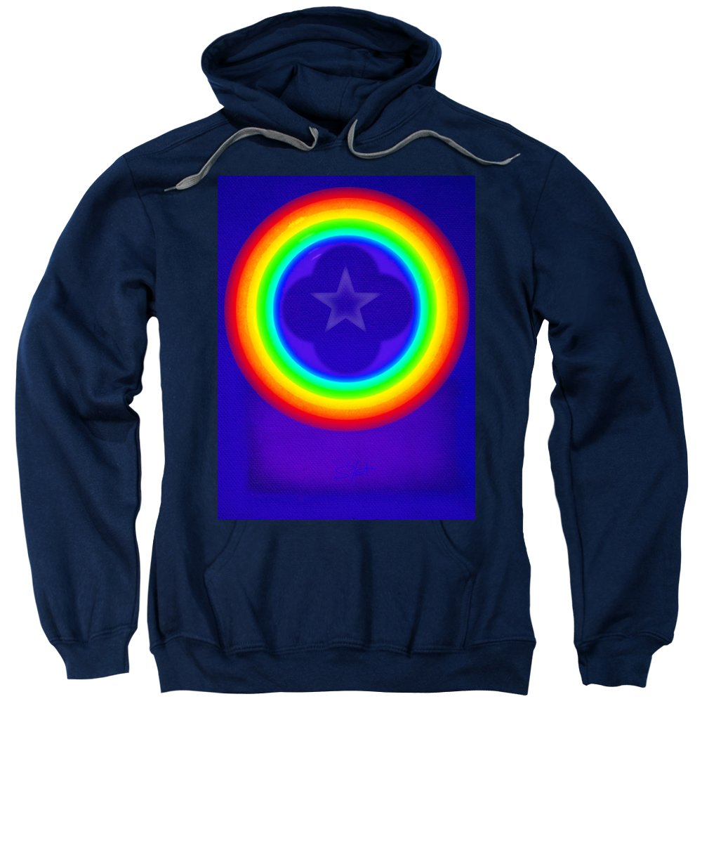 Abstract Sweatshirt featuring the painting Deep Blue See by Charles Stuart