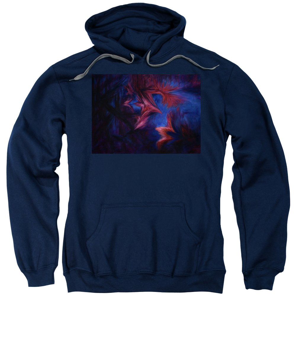 Abstract Sweatshirt featuring the painting Deja Vu by Rachel Christine Nowicki