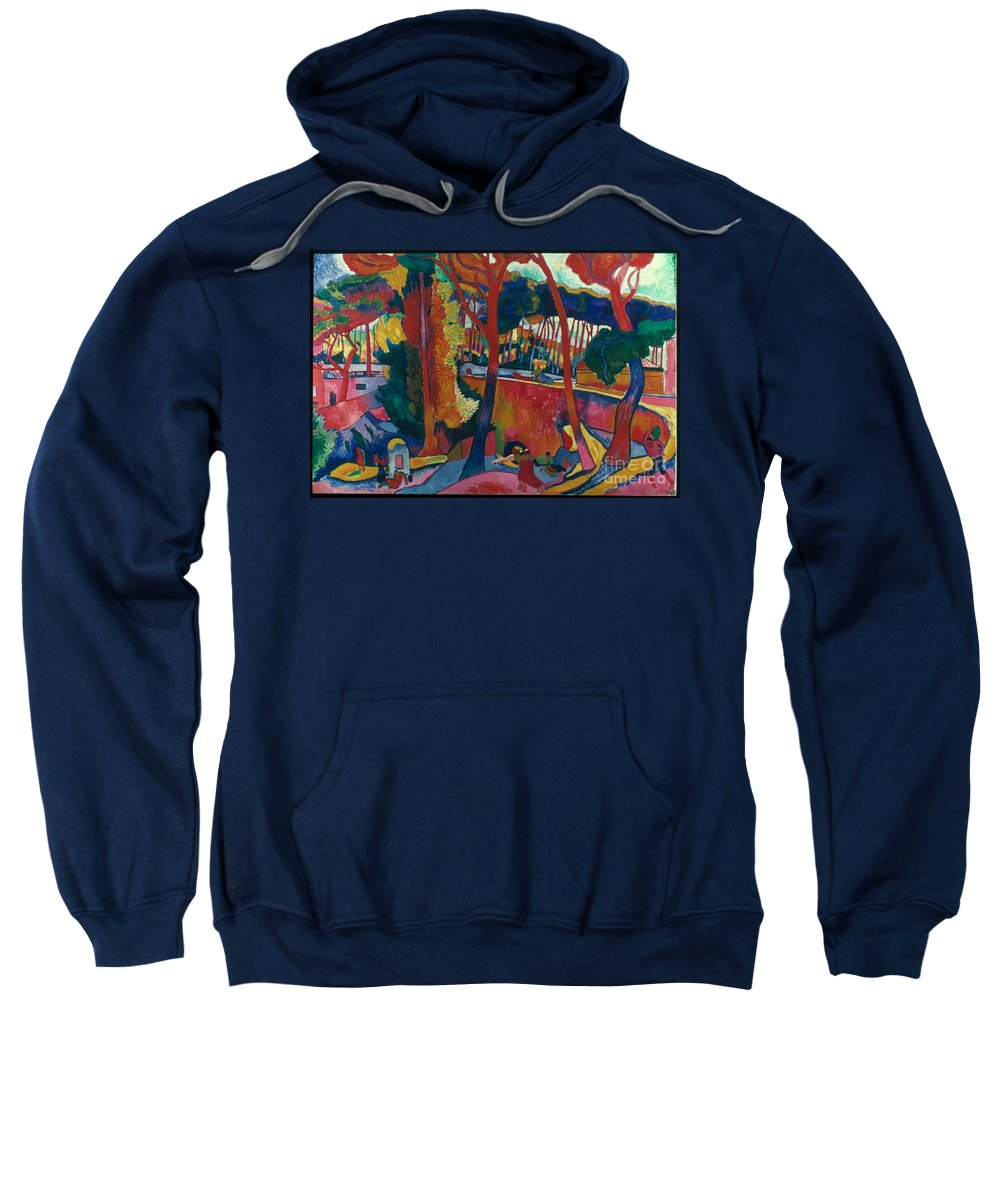 1906 Sweatshirt featuring the photograph Derain: Lestaque, by Granger