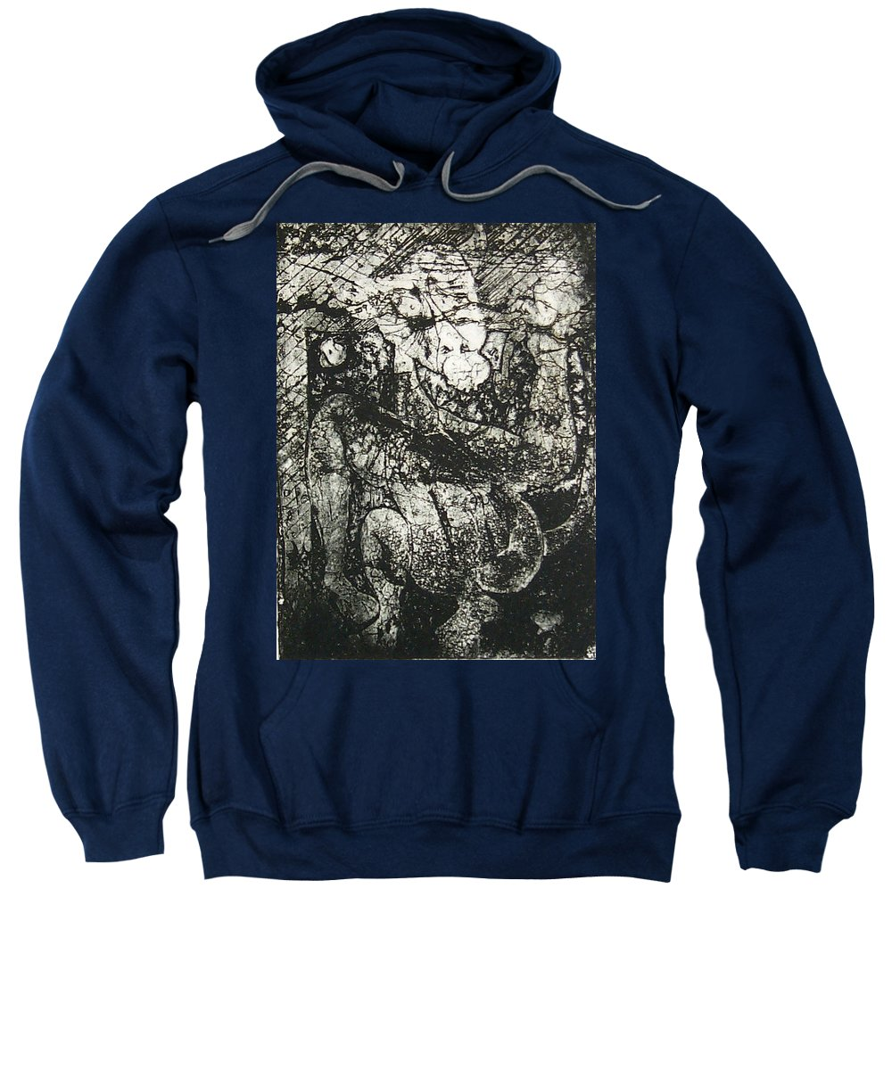 Etching Sweatshirt featuring the print Destroy Plate by Thomas Valentine