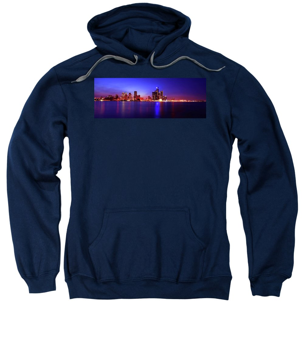 Detroit Sweatshirt featuring the photograph Detroit Skyline 3 by Gordon Dean II
