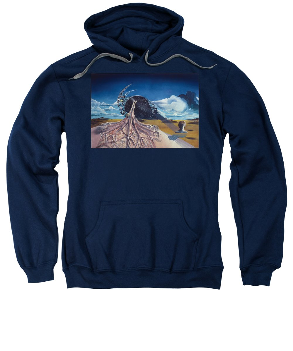 Surrealism Sweatshirt featuring the painting Different Prayer by Leonard Rubins