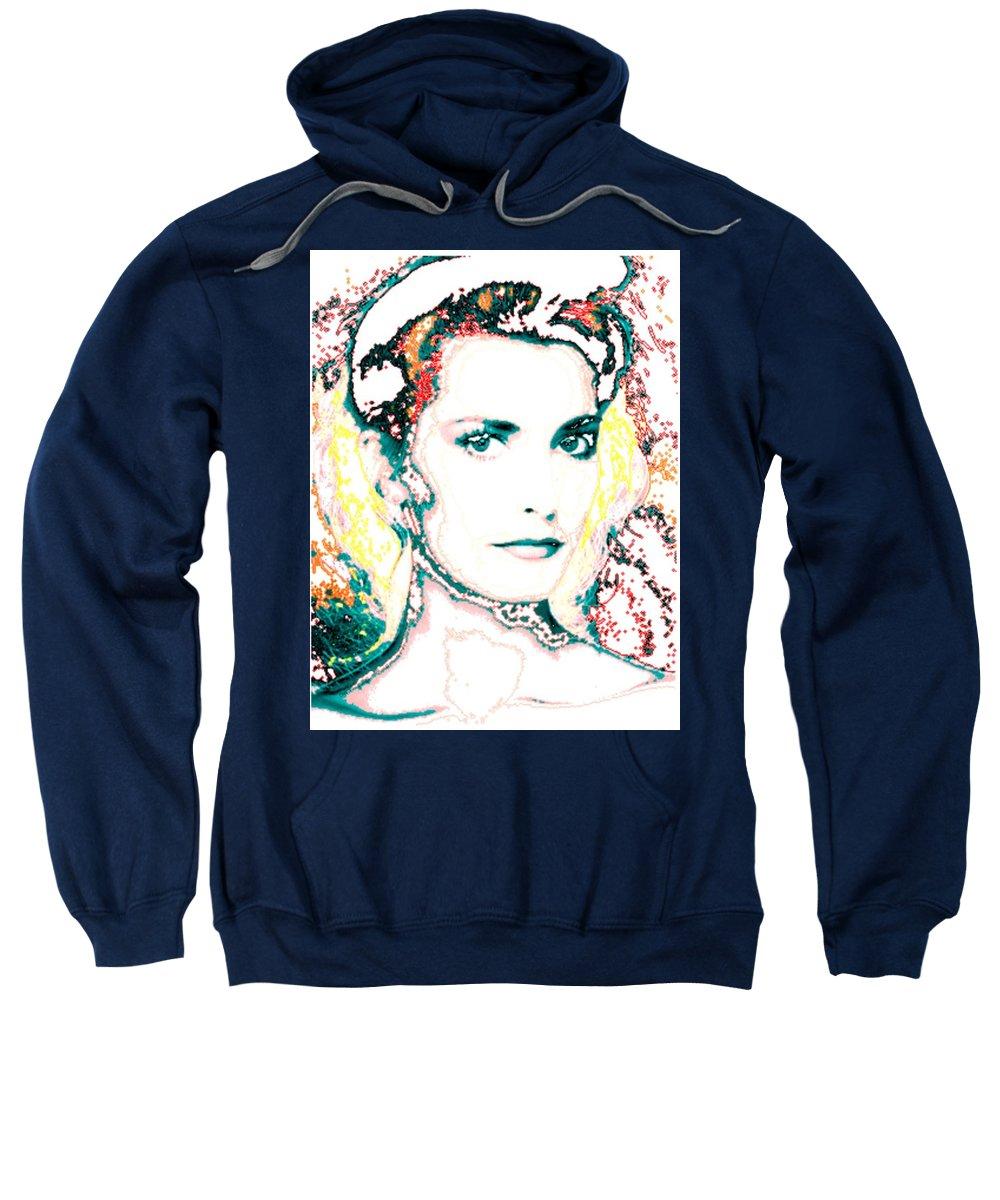 Digital Sweatshirt featuring the digital art Digital Self Portrait by Kathleen Sepulveda