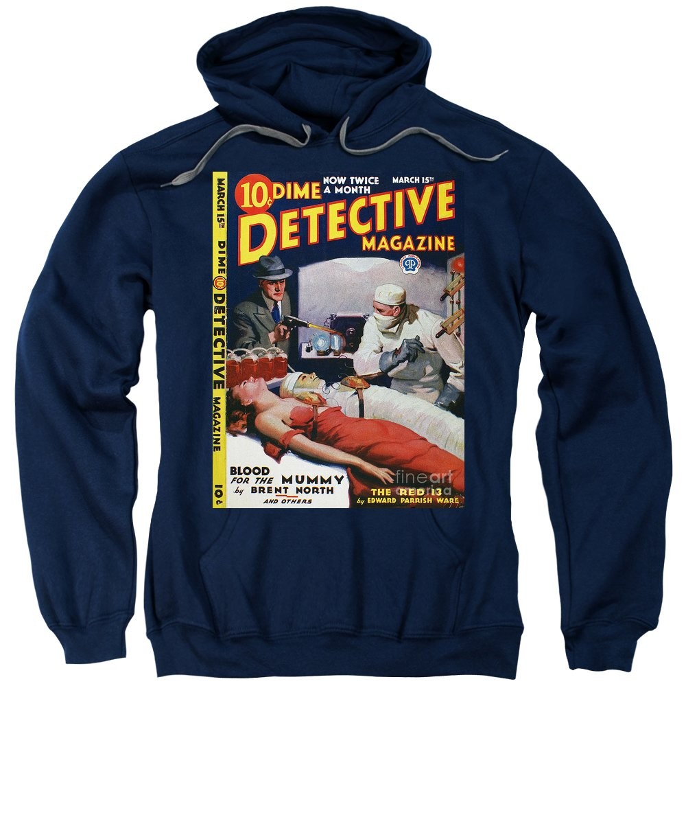 1933 Sweatshirt featuring the photograph Dime Novel 1933 by Granger