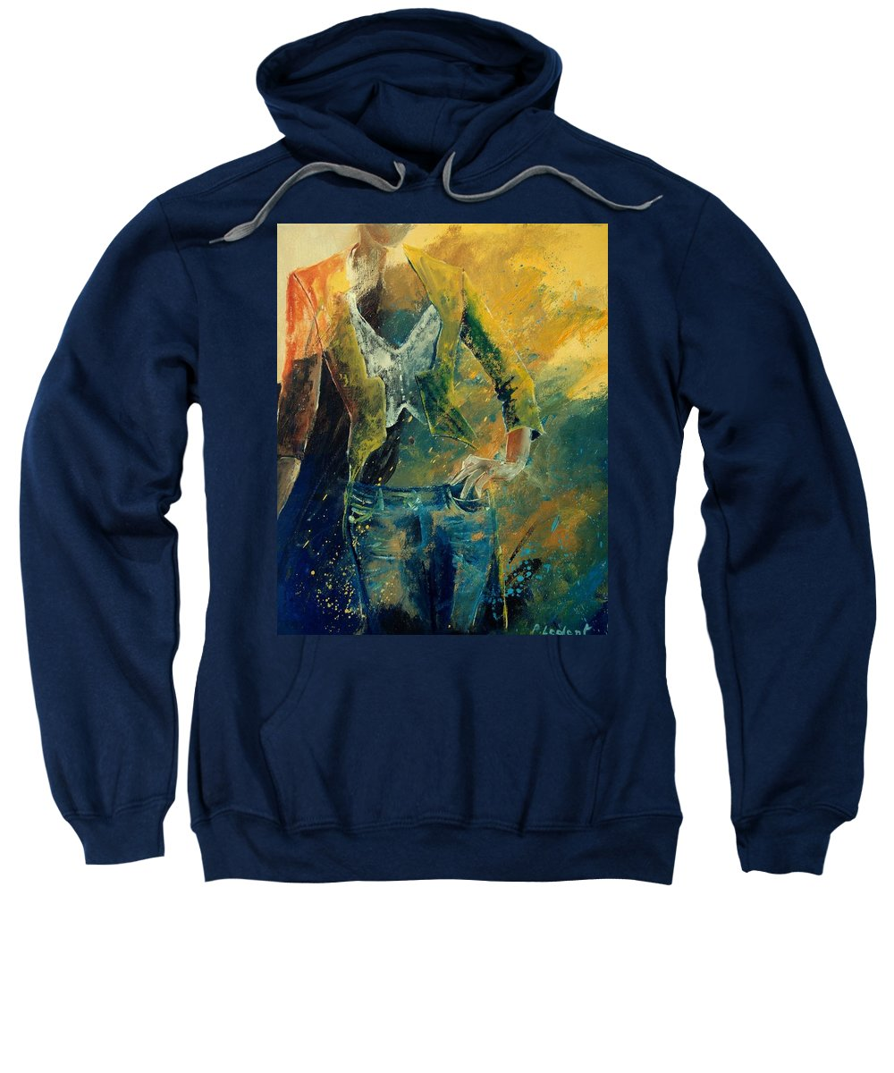 Woman Girl Fashion Sweatshirt featuring the painting Dinner Jacket by Pol Ledent