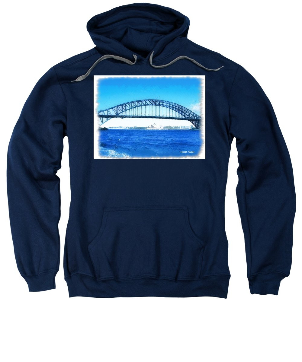 Darling Harbour Sweatshirt featuring the photograph Do-00057 Harbour Bridge by Digital Oil