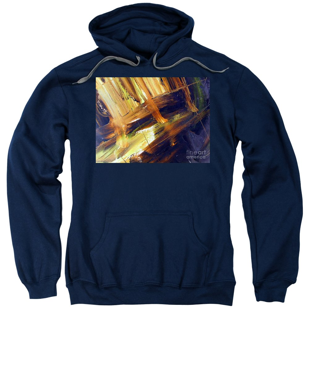 Sitting On The Dock Of The Bay Sweatshirt featuring the painting Dock Of The Bay by Dawn Hough Sebaugh