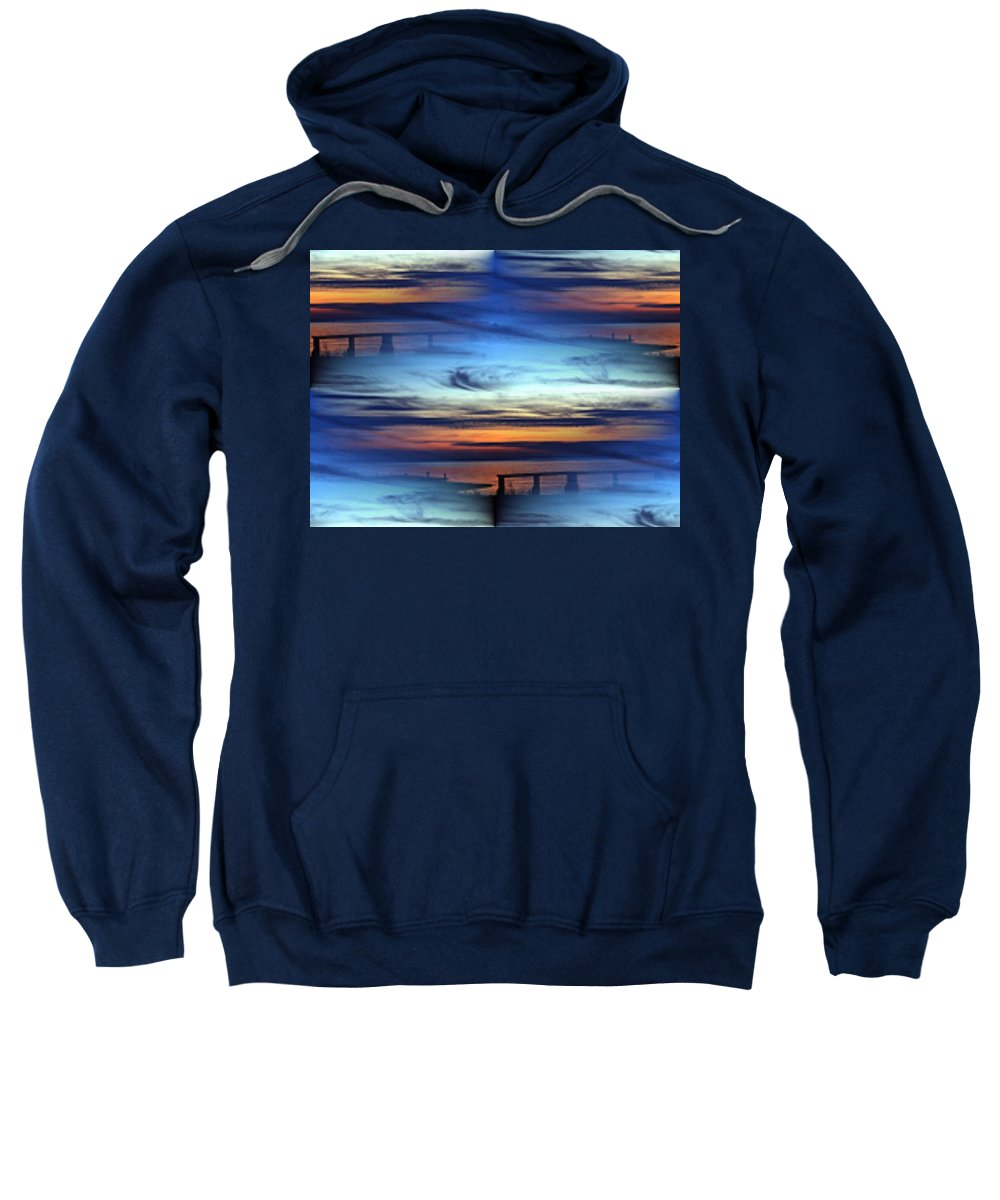 Dock Sweatshirt featuring the photograph Dock Of The Bay by Tim Allen