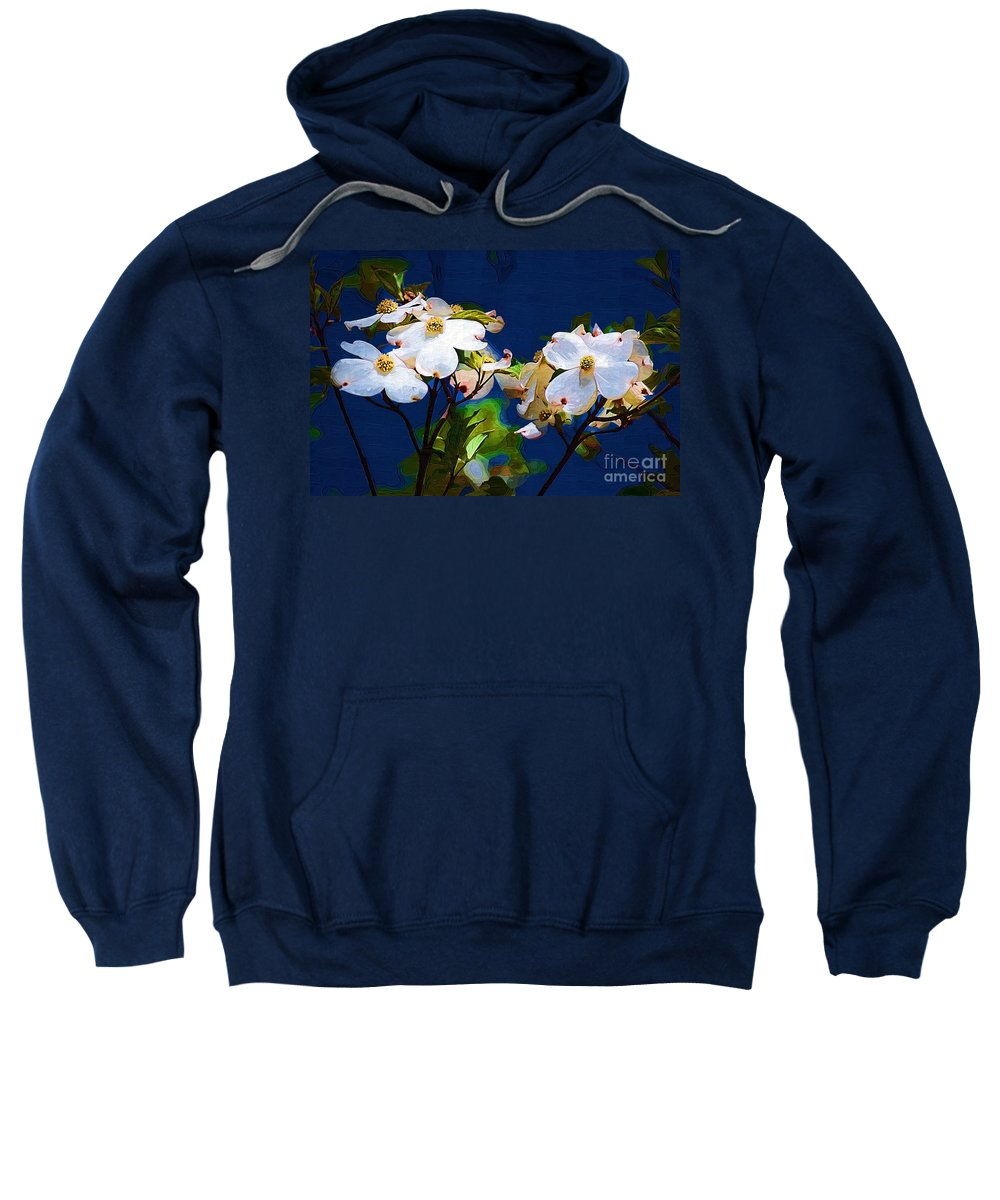 Dogwood Sweatshirt featuring the photograph Dogwood by Donna Bentley
