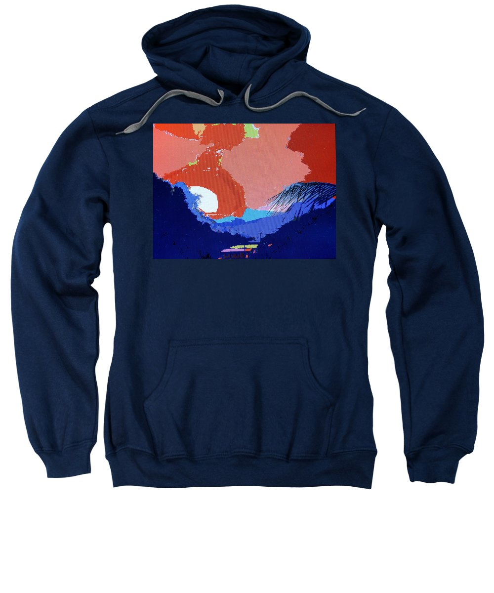 Digital Art Sweatshirt featuring the photograph Dominican Sunset by Ian MacDonald