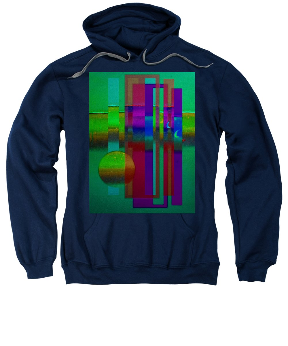 Landscape Sweatshirt featuring the painting Doors In Green by Charles Stuart
