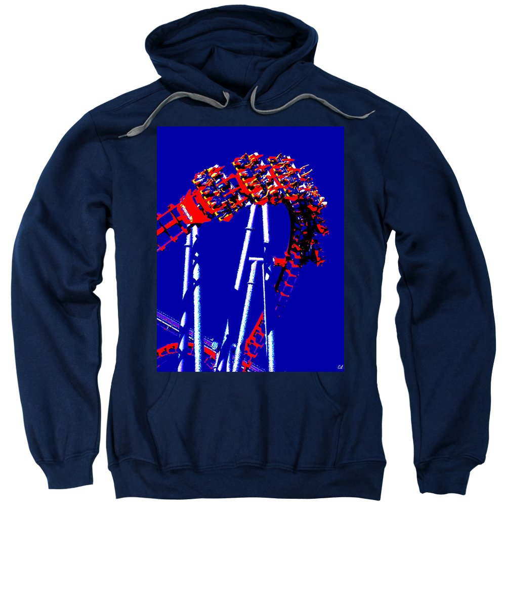 Down Side Up Sweatshirt featuring the photograph Down Side Up by Ed Smith
