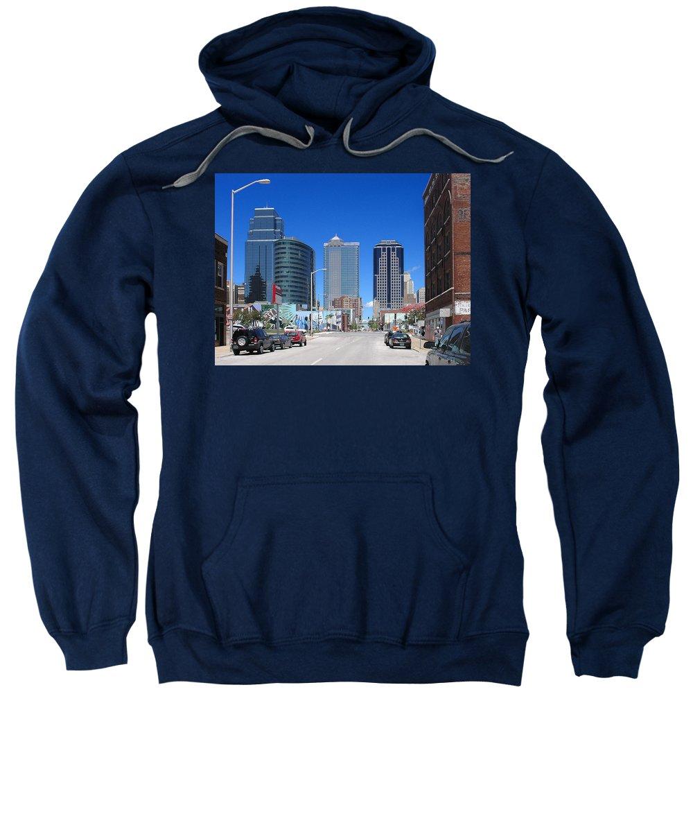 City Sweatshirt featuring the photograph Downtown Kansas City by Steve Karol