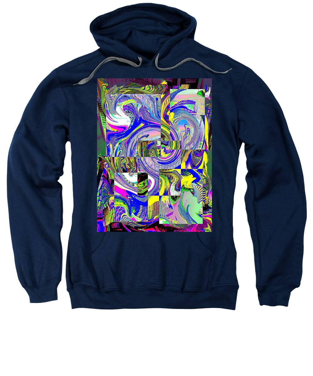 Abstract Sweatshirt featuring the photograph Downtown Tango by Tim Allen