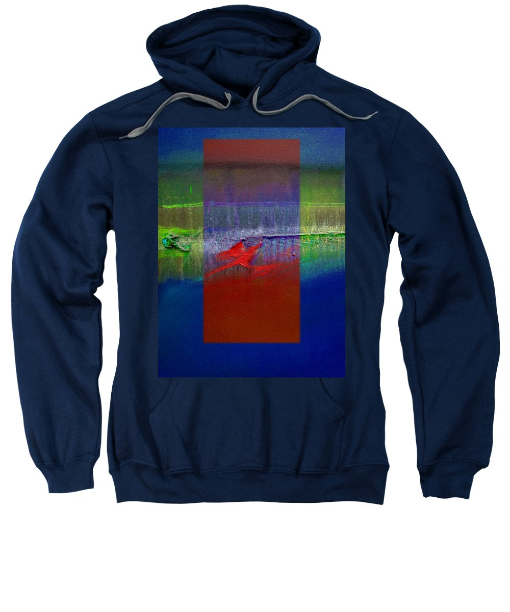 Landscape Sweatshirt featuring the painting Dragon Coast by Charles Stuart
