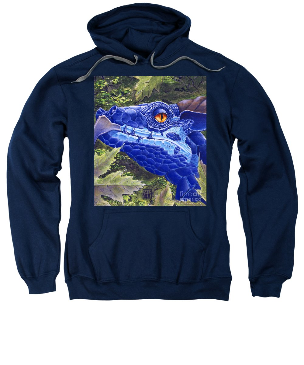 Dragon Sweatshirt featuring the painting Dragon Eyes by Melissa A Benson