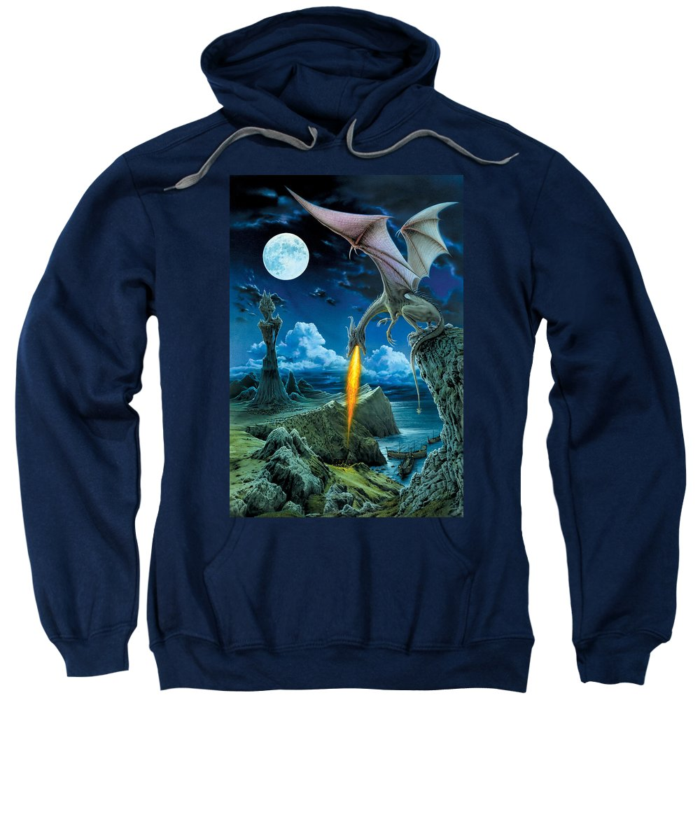 Dragon Sweatshirt featuring the photograph Dragon Spit by The Dragon Chronicles - Robin Ko