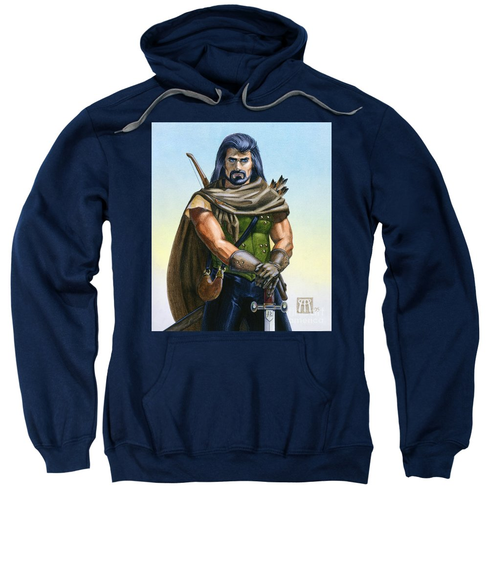 Ranger Sweatshirt featuring the painting Dragon Tracker by Melissa A Benson