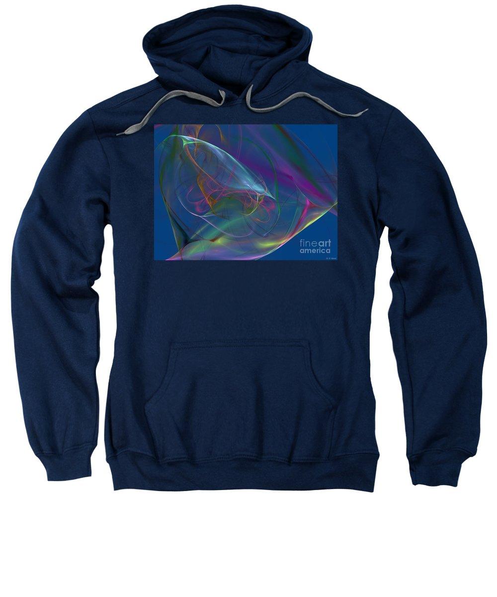 Blue. Dreamy Sweatshirt featuring the digital art Dreamy Blue by Deborah Benoit