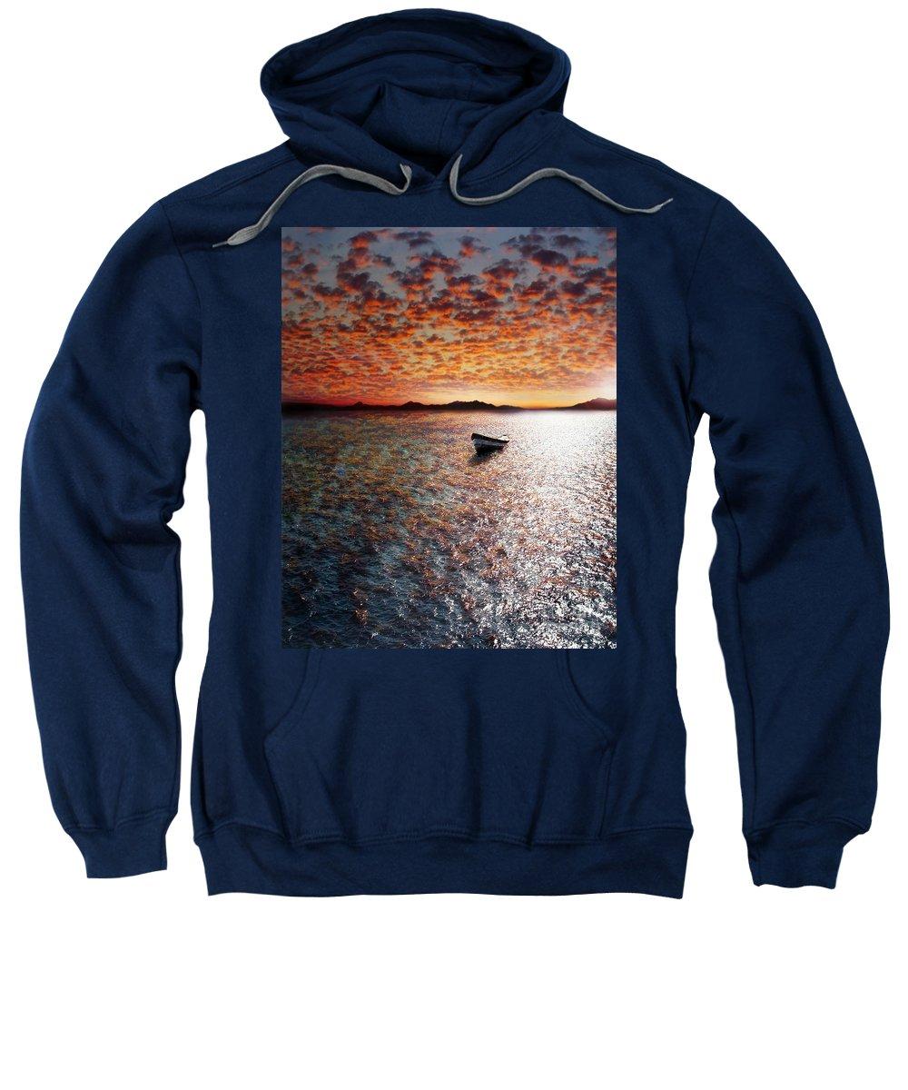Ocean Sweatshirt featuring the photograph Drift Away by Jacky Gerritsen