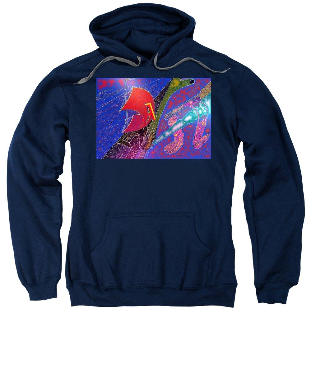 Drugs Sweatshirt featuring the digital art Drugs by Helmut Rottler