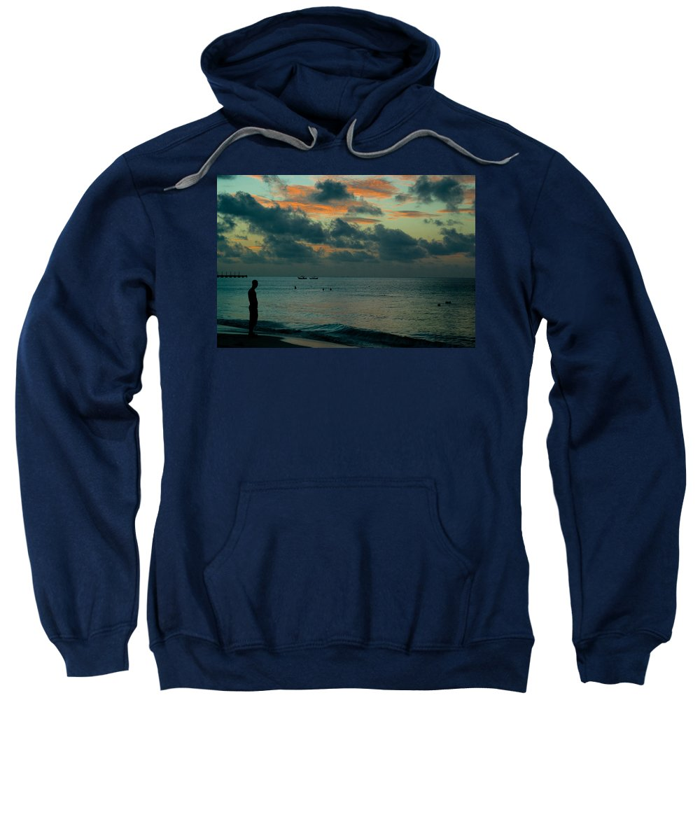 Sea Sweatshirt featuring the photograph Early Morning Sea by Douglas Barnett