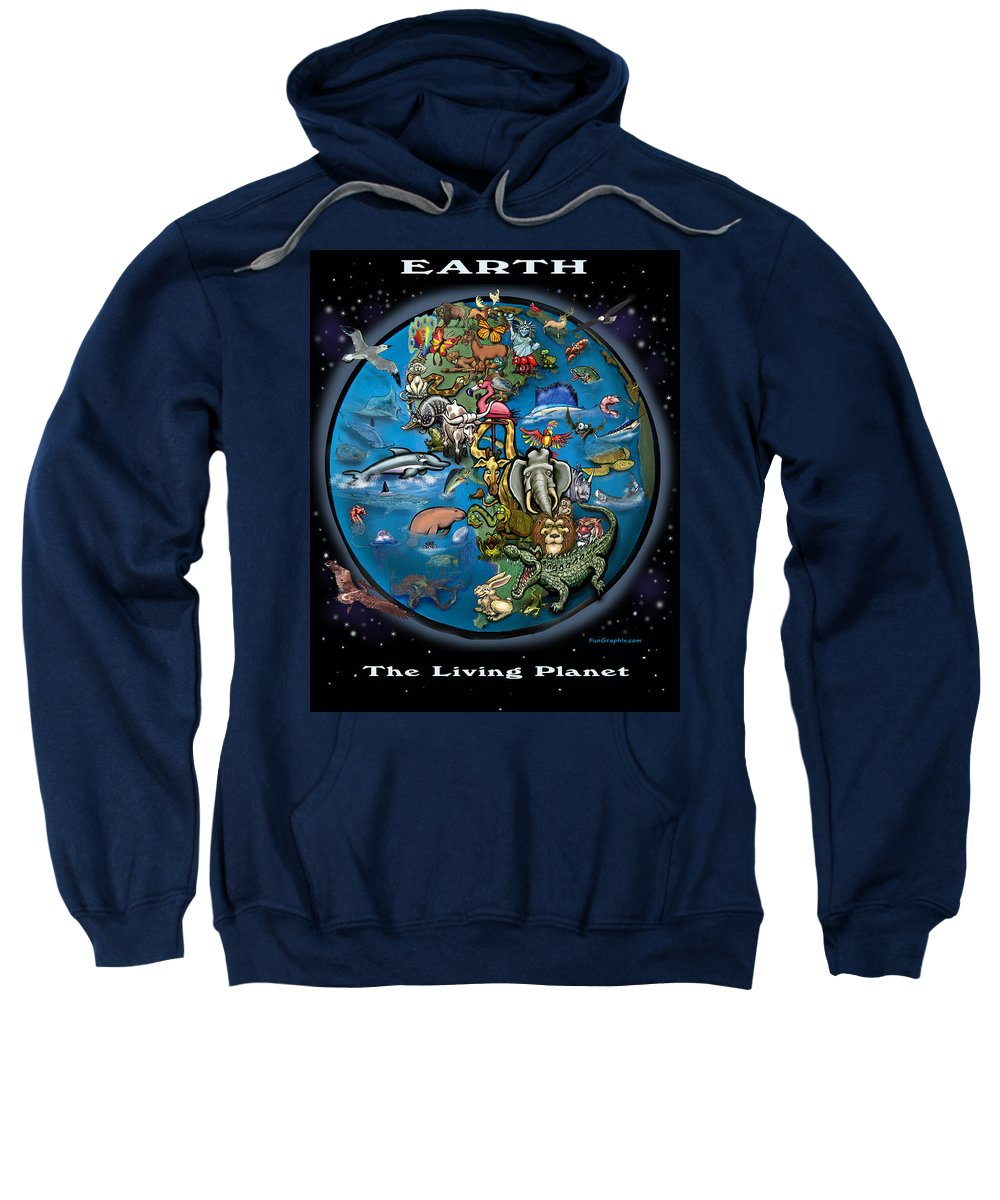 Earth Sweatshirt featuring the painting Earth by Kevin Middleton