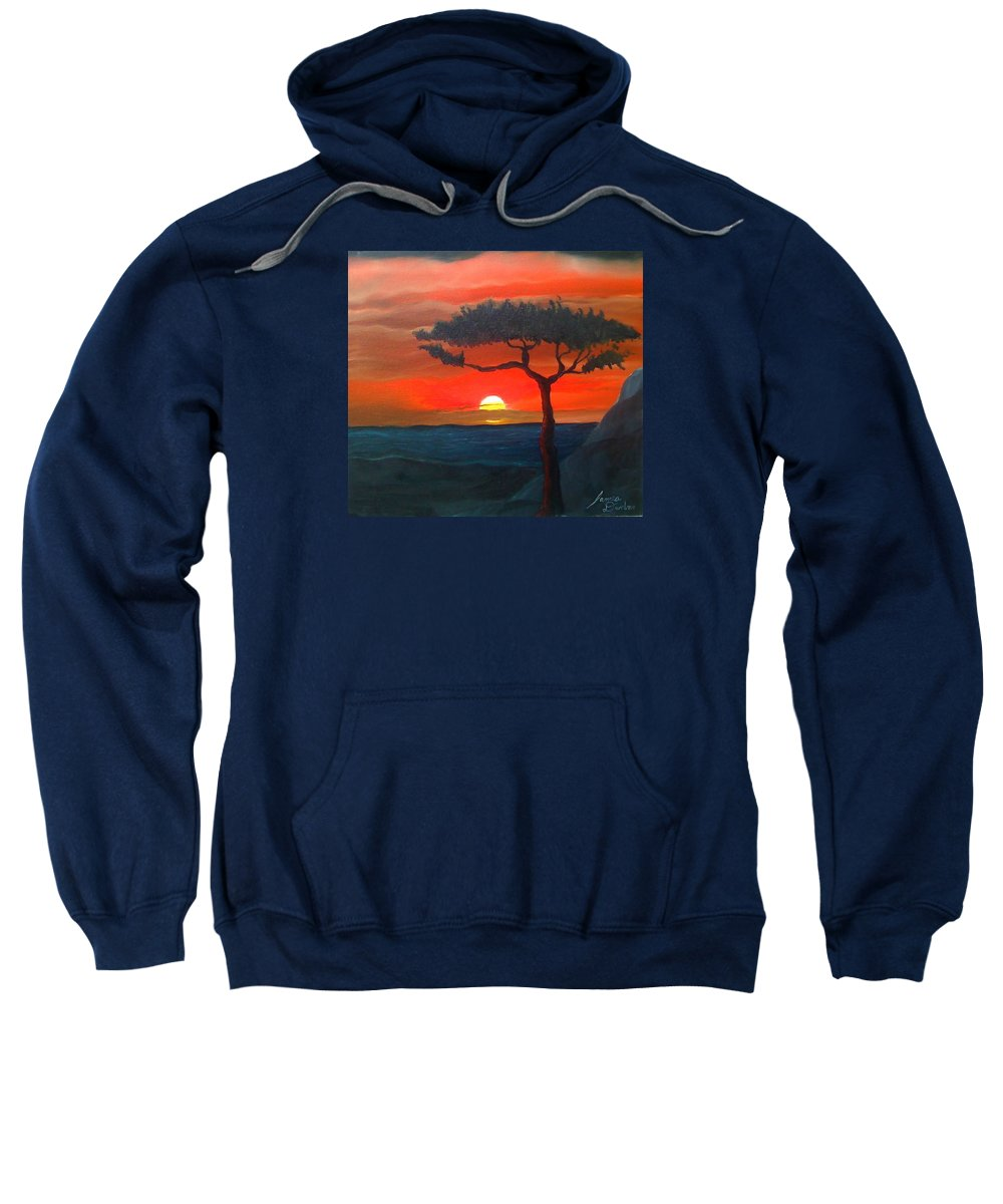 Africa! Sweatshirt featuring the painting East African Sunset by Dunbar's Modern Art