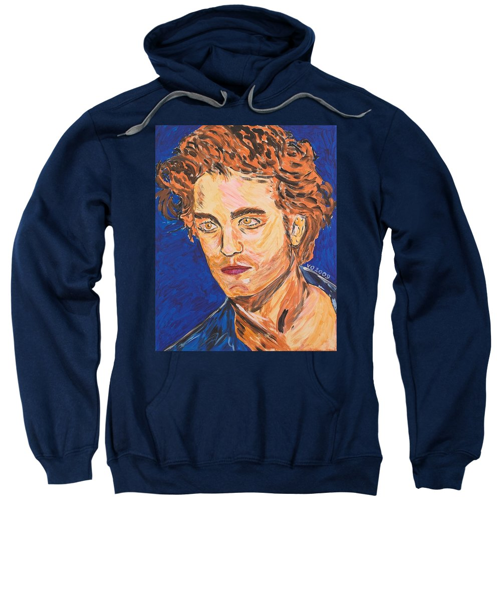 Edward Sweatshirt featuring the painting Edward Cullen by Valerie Ornstein