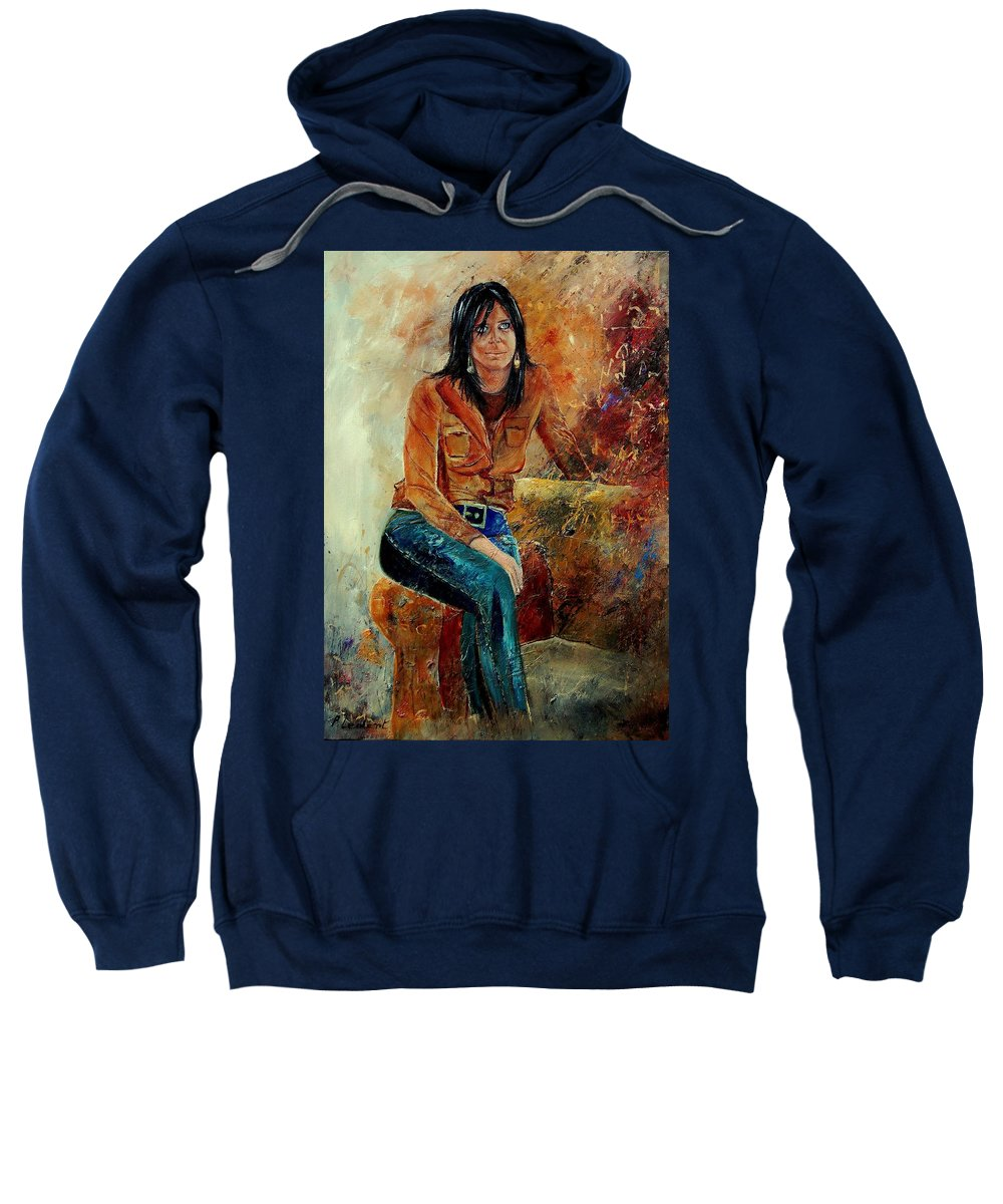Girl Sweatshirt featuring the painting Eglantine 57 by Pol Ledent