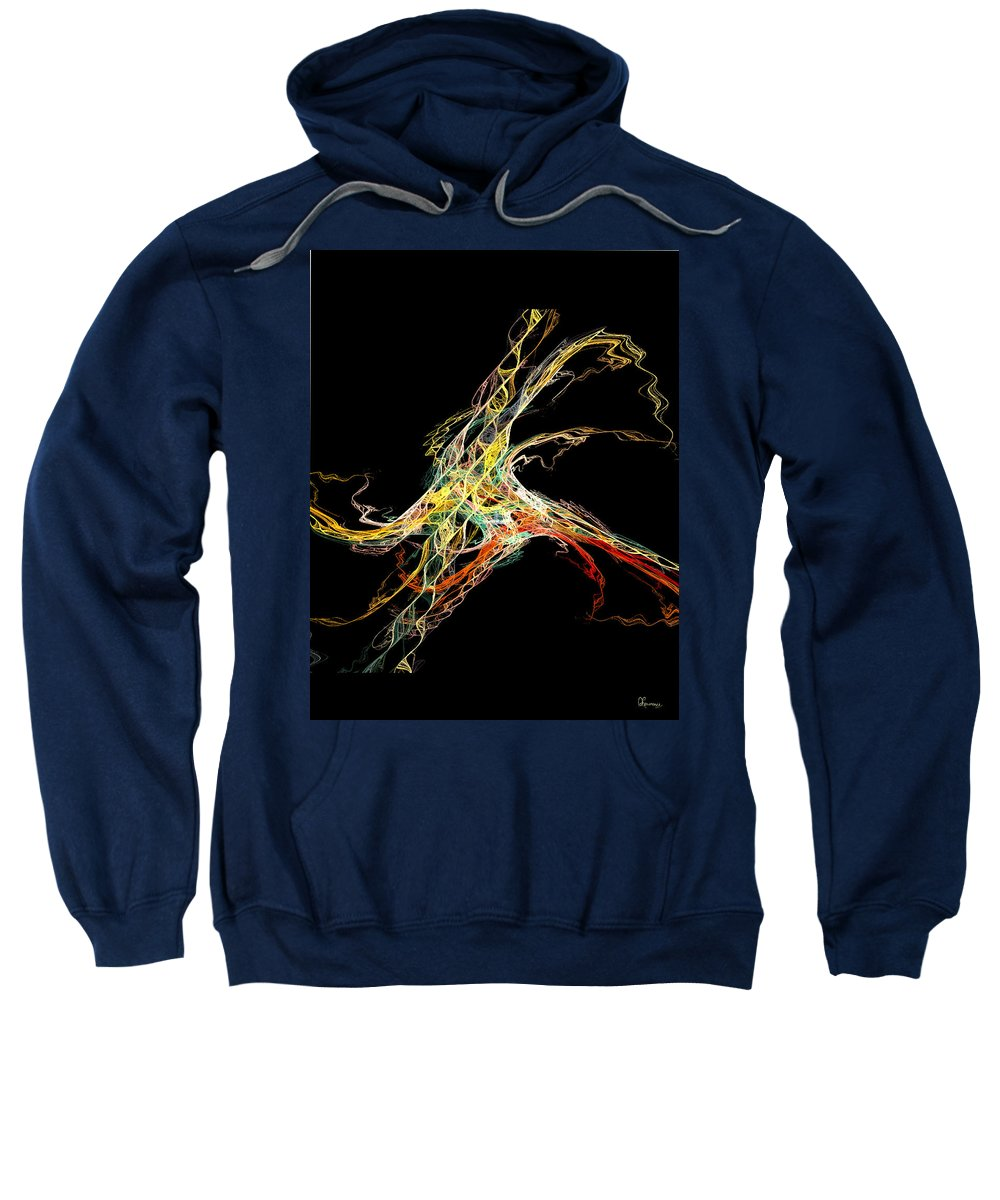Abstract Sweatshirt featuring the digital art Electric Shock by Andrea Lawrence