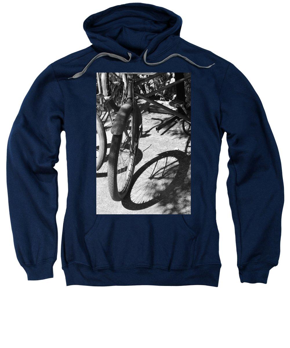 Bike Sweatshirt featuring the photograph Elgin Bicycle Shadow by Lauri Novak